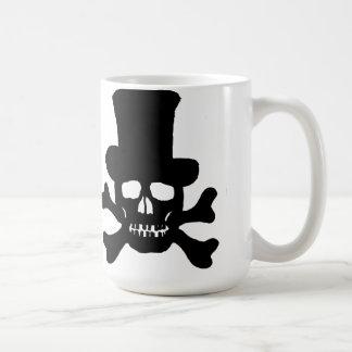 """シルクハットのマグとの""""毒""""どくろ印 コーヒーマグカップ"""