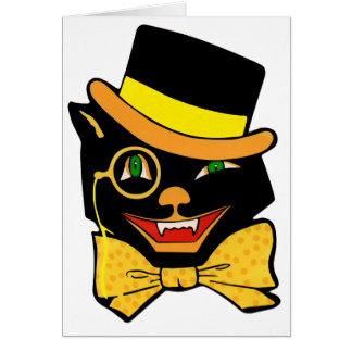 シルクハットの黒猫 カード