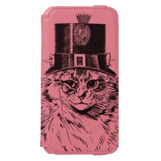 シルクハットのSteampunk猫の子猫 Incipio Watson™ iPhone 5 財布型ケース