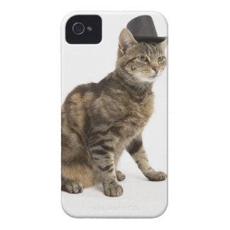 シルクハットを身に着けている猫 Case-Mate iPhone 4 ケース