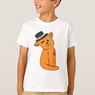 シルクハット猫及びCo 2.0 Tシャツ