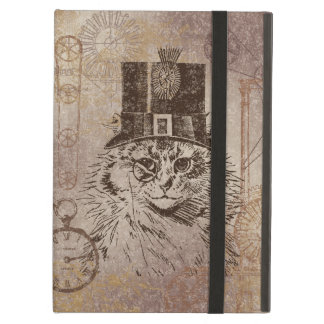シルクハット、ギア、PocketwatchのSteampunkの子猫猫 iPad Airケース