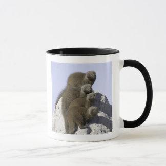 シロアリの小山の小型マングースのグループ マグカップ