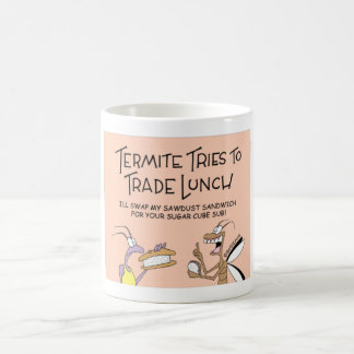シロアリは昼食を交換します コーヒーマグカップ