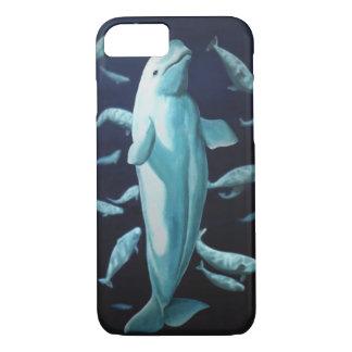 シロイルカのクジラのiPhone場合のクジラのSmartphoneの7つの例 iPhone 8/7ケース