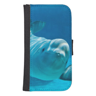シロイルカのクジラ ウォレットケース