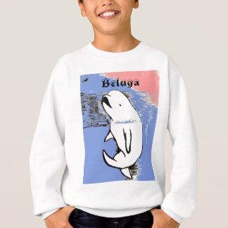 シロイルカのクジラ スウェットシャツ