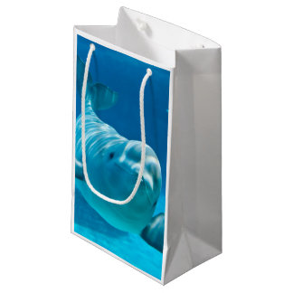 シロイルカのクジラ スモールペーパーバッグ