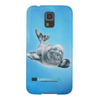 シロイルカ- Samsungの銀河系の関連の場合 Galaxy S5 ケース