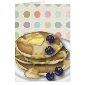 シロップおよびブルーベリーが付いているパンケーキ カード