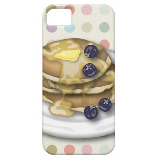 シロップおよびブルーベリーが付いているパンケーキ iPhone SE/5/5s ケース