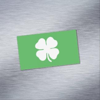 シロツメクサの葉の磁気名刺 マグネット名刺 (25枚パック)