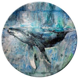 シロナガスクジラのコレクション 磁器プレート