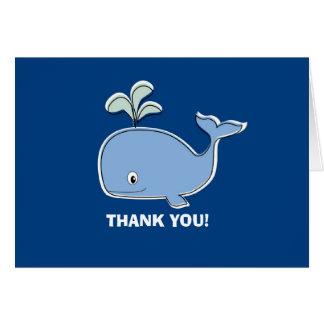 シロナガスクジラのサンキューカード カード