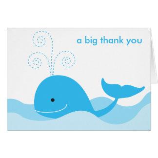シロナガスクジラのメッセージカード カード