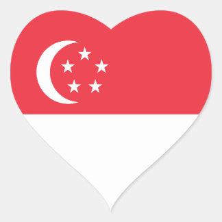 シンガポールかシンガポールのハートの旗 ハートシール