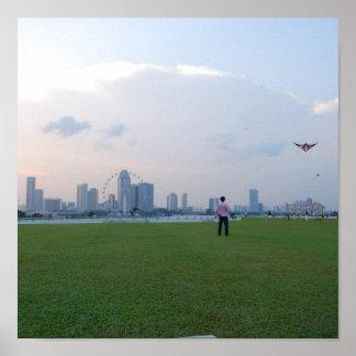 シンガポールのスカイラインポスター ポスター