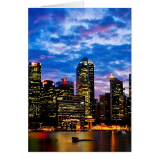 シンガポールのスカイライン カード