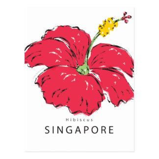 シンガポールのハイビスカスのコレクション ポストカード