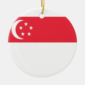 シンガポールの国民の世界の旗 セラミックオーナメント