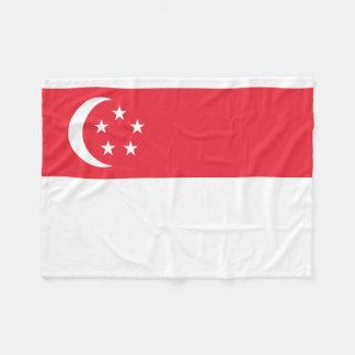 シンガポールの国民の世界の旗 フリースブランケット