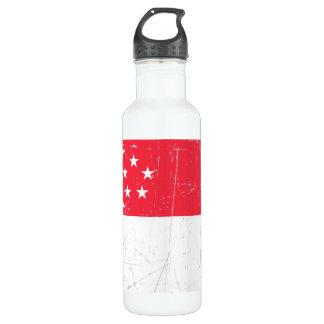 シンガポールの引きずられ、傷付けられた旗 ウォーターボトル