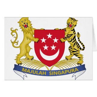 シンガポールの新加坡国徽の紋章の紋章付き外衣 カード