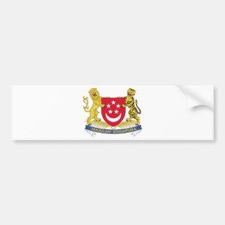 シンガポールの新加坡国徽の紋章の紋章付き外衣 バンパーステッカー