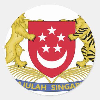 シンガポールの新加坡国徽の紋章の紋章付き外衣 ラウンドシール