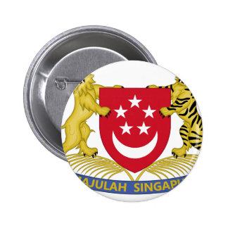 シンガポールの新加坡国徽の紋章の紋章付き外衣 5.7CM 丸型バッジ