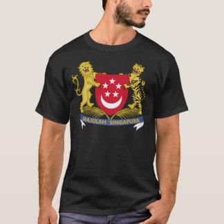 シンガポールの新加坡国徽の紋章の紋章付き外衣 Tシャツ