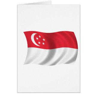 シンガポールの旗 カード