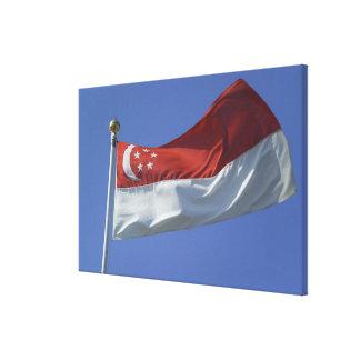 シンガポールの旗 キャンバスプリント