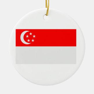 シンガポールの旗 セラミックオーナメント