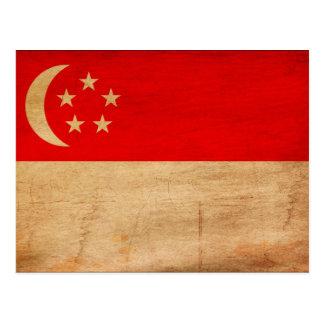 シンガポールの旗 ポストカード
