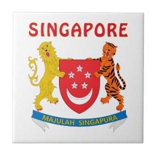 シンガポールの紋章付き外衣 タイル