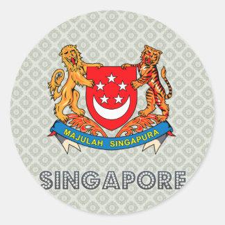 シンガポールの紋章付き外衣 ラウンドシール