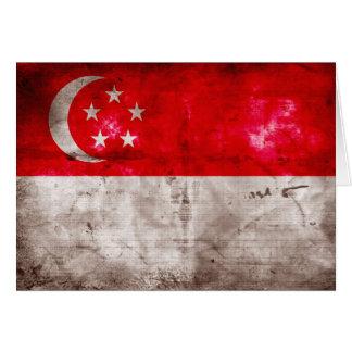 シンガポールの風化させた旗 カード