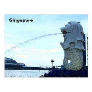 シンガポールのMerlion ポストカード