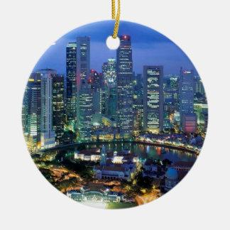 シンガポールアンジーの空中写真 セラミックオーナメント