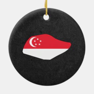 シンガポール旅行の記念品 セラミックオーナメント