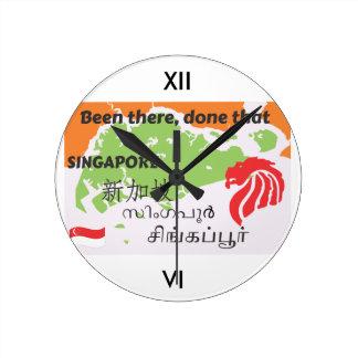シンガポール ラウンド壁時計