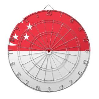 シンガポール-新加坡国旗-の旗Bendera Singapura ダーツボード