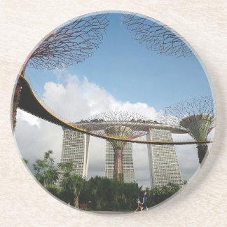 シンガポール-湾およびマリーナ湾の砂による庭 コースター