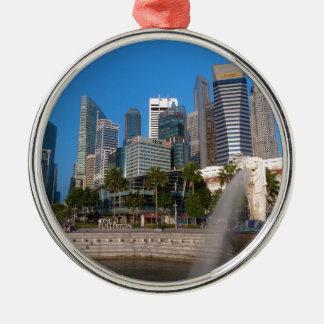 シンガポールMerlion公園 メタルオーナメント