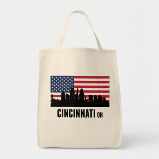 シンシナチオハイオ州の米国旗 トートバッグ