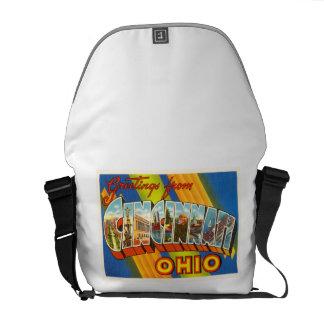 シンシナチオハイオ州オハイオ州の古いヴィンテージ旅行記念品 クーリエバッグ
