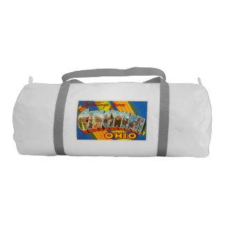 シンシナチオハイオ州オハイオ州の古いヴィンテージ旅行記念品 ジムバッグ