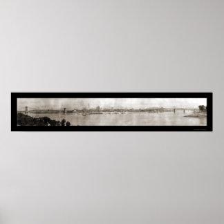 シンシナチオハイオ州水写真1914年 ポスター