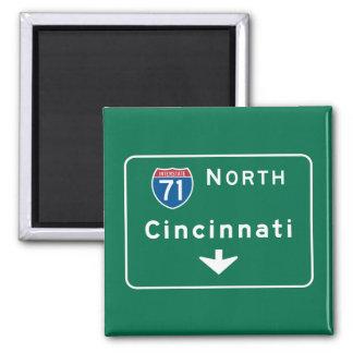 シンシナチ、オハイオ州の交通標識 マグネット